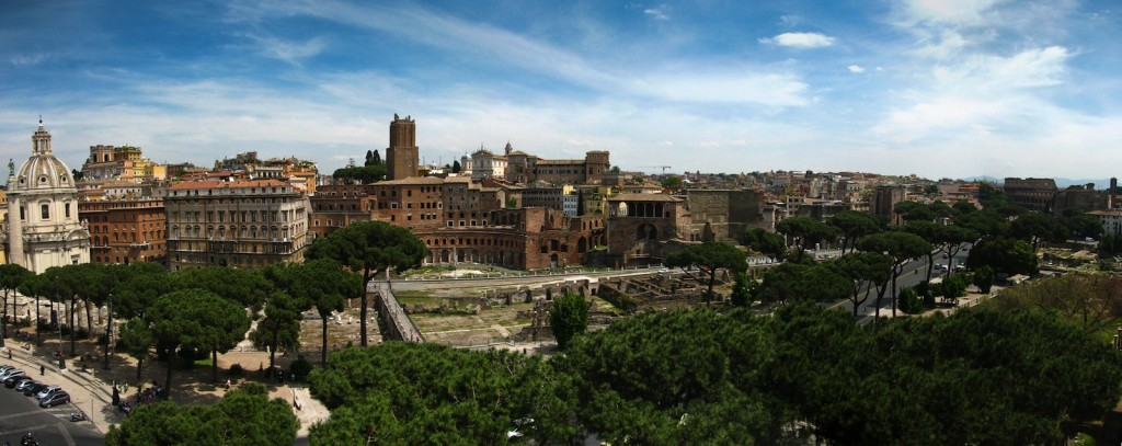 Panorama over Rom